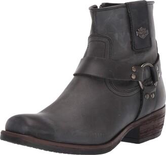 """Harley-Davidson Women's Abbington/Blk 7'"""" Harness Boot"""