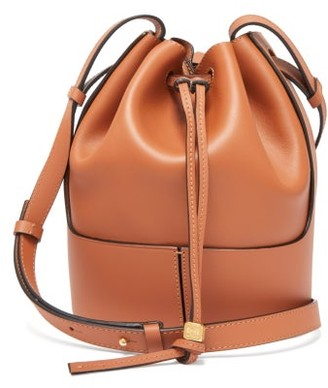 Loewe Balloon Small Drawstring-top Leather Bag - Brown Multi