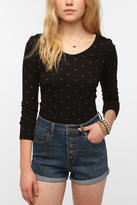 Truly Madly Deeply Printed Double Scoop Long-Sleeve Tee