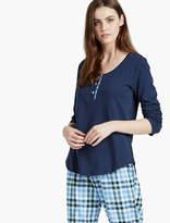 Lucky Brand Contrast Placket Pajama
