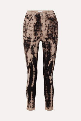 Tre By Natalie Ratabesi TRE by Natalie Ratabesi - The Tie Dye Domino High-rise Skinny Jeans - Dark brown