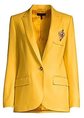 Escada Women's Beart Crest Wool One-Button Blazer