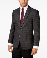 Tommy Hilfiger Men's Slim-Fit Gray and Black Check Sport Coat