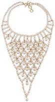 Carolee Gold-Tone Pink Imitation Pearl Bib Necklace