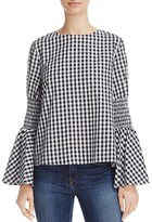 Endless Rose Gingham Flare-Sleeve Top