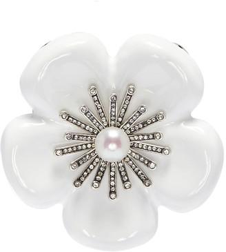 Babe Embellished floral brooch