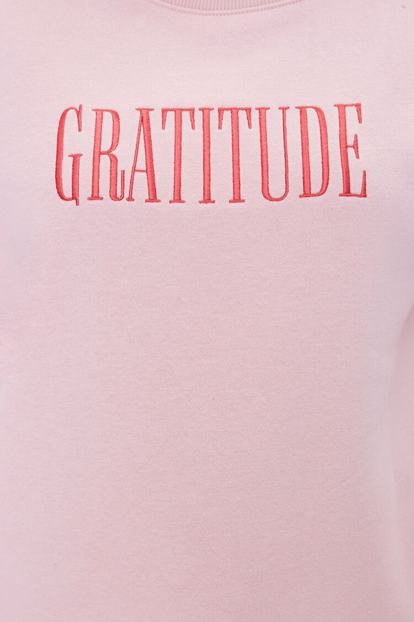 Thumbnail for your product : Forever 21 Plus Size Gratitude Fleece Pullover