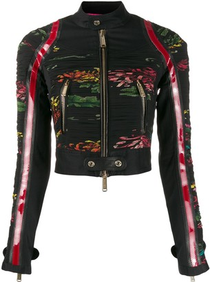 DSQUARED2 Floral Biker Jacket