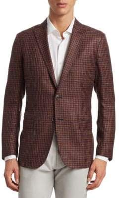Saks Fifth Avenue COLLECTION Wool Houndstooth Sportcoat