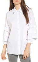 Socialite Women's Ruched Sleeve Shirt