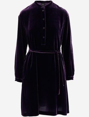 Aspesi Purple Velvet Women's Dress