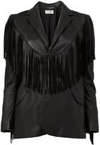 Saint Laurent fringed western jacket - women - Silk/Calf Leather - 40