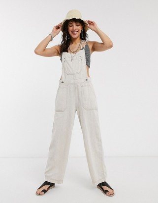 Free People Natural Sights lightweigh overalls