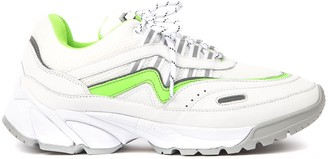 Axel Arigato Demo Runner White Leather & Fabric Chunky Sneakers