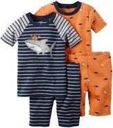 Carter's 4 Piece Shark PJ Set (Baby) - Print - 24 Months