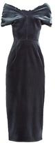 Emilio De La Morena Tamara off-the-shoulder velvet dress