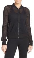 Zella Women's 'Sculpt' Mesh Bomber Jacket