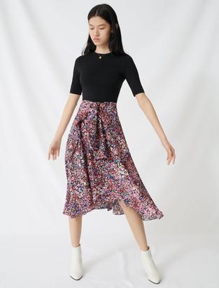 Maje Printed trompe lil dress