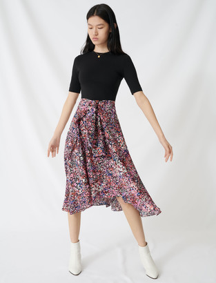 Maje Printed layered dress