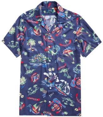 Polo Ralph Lauren Custom-Fit Ralph-Waiian Print Camp Shirt