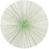 Tisch New York Graphic Lines Placemat-WHITE, GREEN