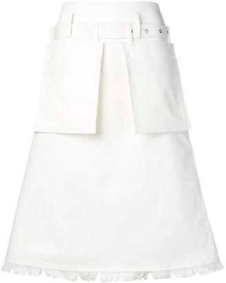 Eudon Choi A-line fringed skirt