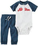 "Carter's Baby Boy Mommy's All-Star"" Henley Bodysuit & Pants Set"