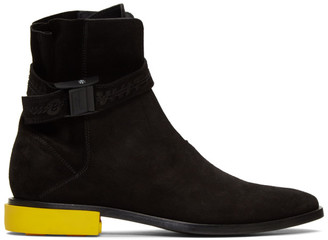 Off-White Off White Black Suede Jodhpur Boots
