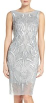 Adrianna Papell Women's Beaded Sheath Dress
