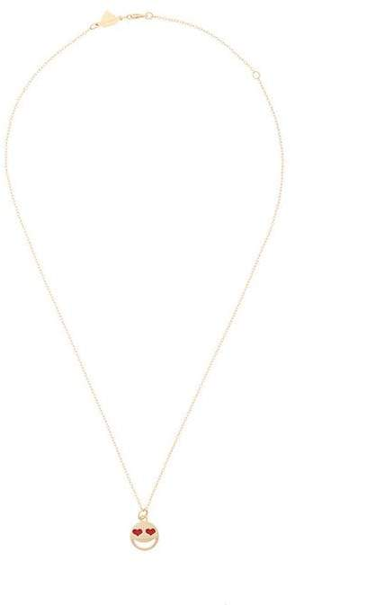 Alison Lou 14kt gold medium Love Struck necklace