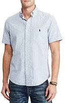 Polo Ralph Lauren Standard-Fit Vertical-Stripe Seersucker Short-Sleeve Woven Shirt