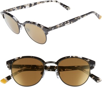 Web 49mm Half Rim Sunglasses
