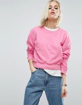 Asos Oversized Cropped Sweatshirt