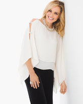 Chico's Lattice-Sleeve Top