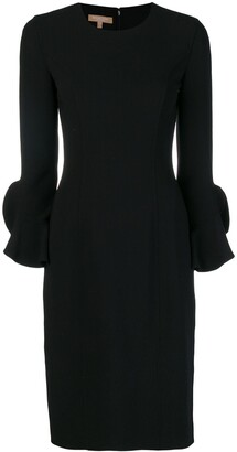 Michael Kors Collection Long-Sleeve Fitted Dress