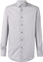 Ermenegildo Zegna long sleeve geometric print shirt