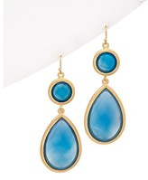 Rivka Friedman 18k Clad Onyx Drop Earrings.