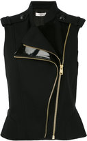 Lanvin sleeveless gilet - women - Polyester/Polyurethane/Acetate/Wool - 38