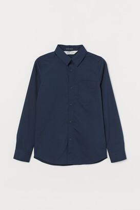 H&M Easy-iron Shirt - Blue