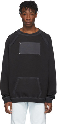 Maison Margiela Black Memory Of Label Sweatshirt