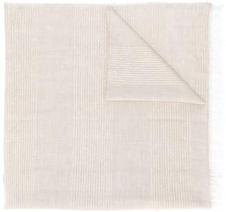 Fabiana Filippi Woven Stripe Sequined Scarf
