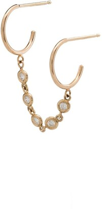 Zoë Chicco 14kt Gold Diamond Double-Hoop Earring