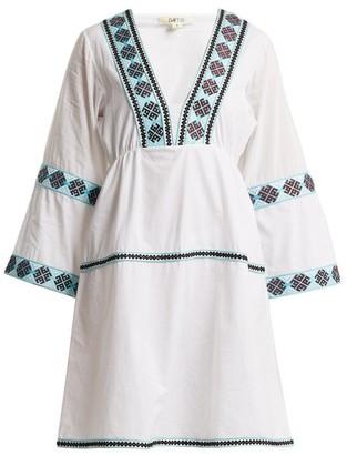 Daft - Istanbul Geometric-pattern Web Dress - Womens - White Multi