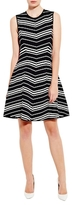 Pink Tartan Chevron Fit and Flare Dress