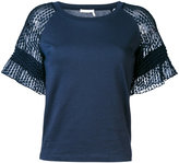 See by Chloe lace raglan sleeve t-shirt - women - Cotton - M