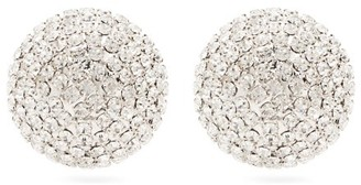 Alessandra Rich Half-sphere Crystal Earrings - Crystal