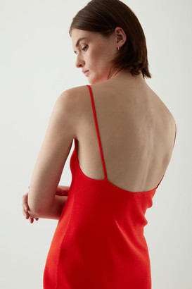 Cos Backless Knitted Slip Dress
