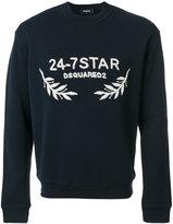 DSQUARED2 logo embroidered sweatshirt