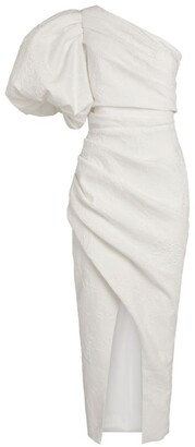 Rasario One-Shoulder Midi Dress