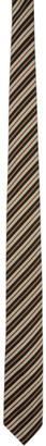 Dries Van Noten Tan Stripe Silk Tie